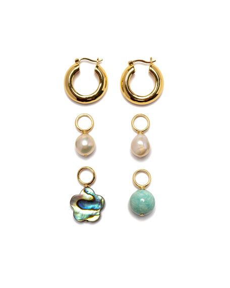 Lizzie Fortunato Mood Hoop Earrings and Charm Set