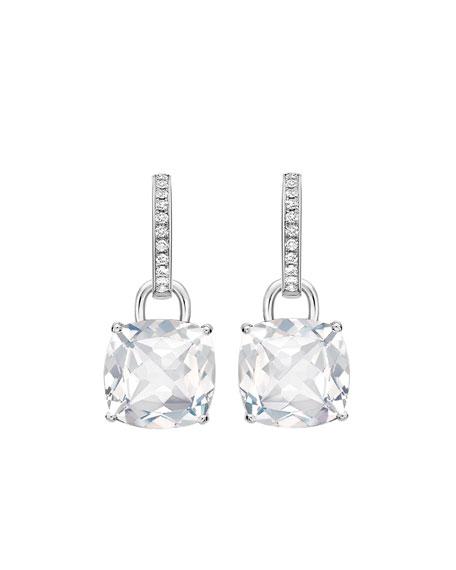 Kiki McDonough Kiki Classic 18k White Gold Topaz Diamond Drop Earrings
