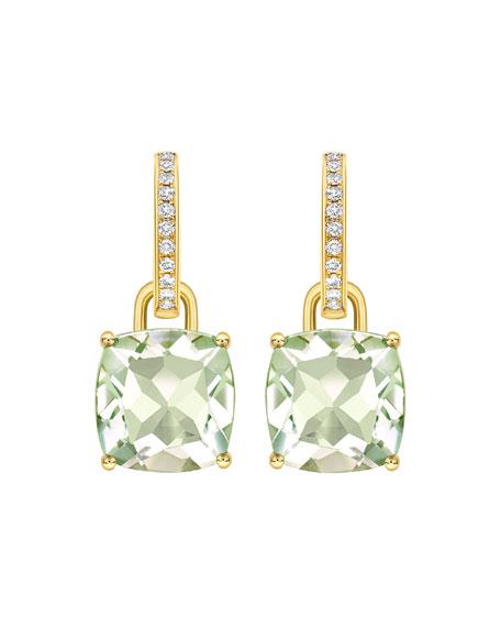 Kiki McDonough Kiki Classics 18k Gold Diamond Green Amethyst Earrings