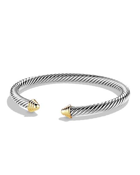 David Yurman Cable Classics Bracelet with Gold, Medium