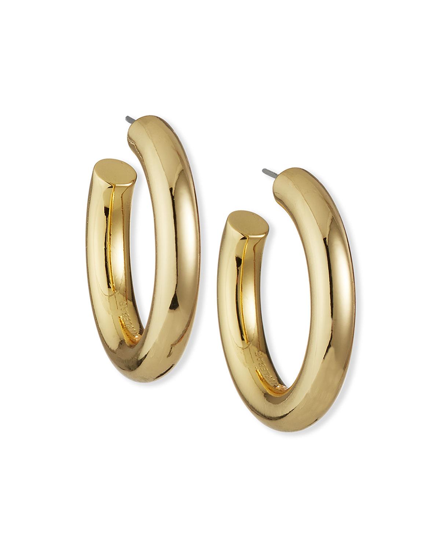 Dalilah Medium Tube Huggie Hoop Earrings