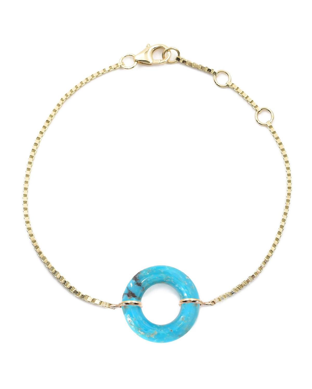 Turquoise Munchkin Box Chain Bracelet
