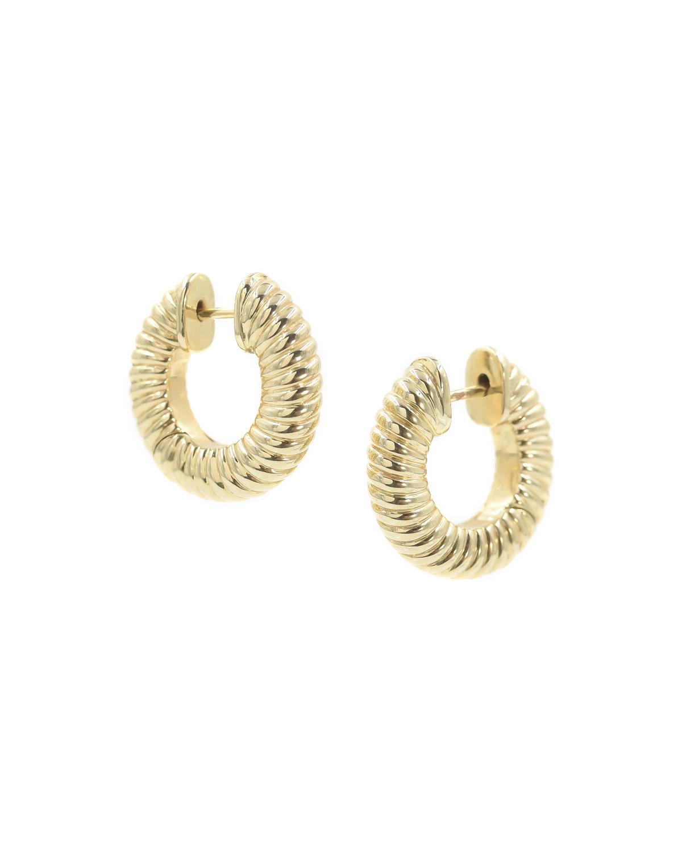 14 Yellow Gold Lulu Hinged Hoop Earrings