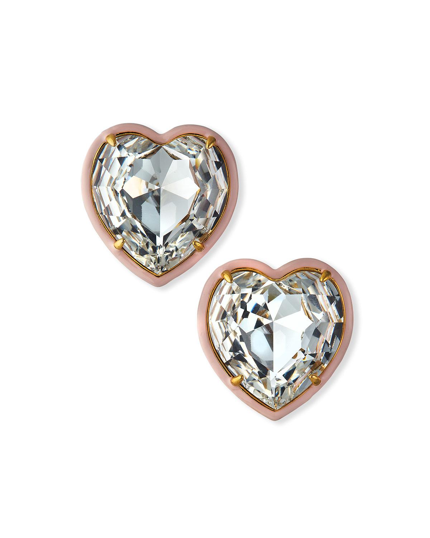 Swarovski Crystal Heart Stud Earrings
