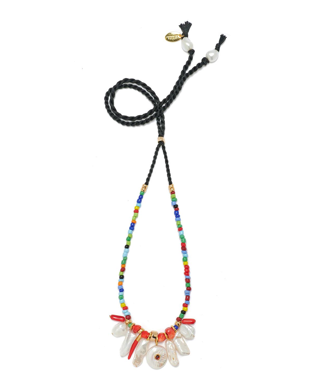 Isola Beaded Necklace in Rainbow
