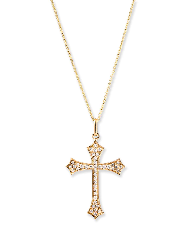 Sydney Evan 14K DIAMOND GOTHIC CROSS NECKLACE