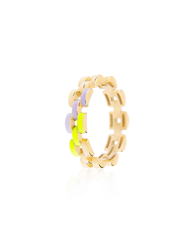 Fine Friendship Skinny Yellow Enamel Band Ring