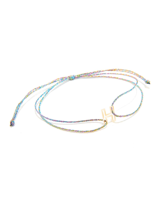 14k Gold Chain Letter Neon Bracelet