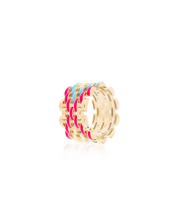 Fine Friendship Wide Enamel Band Ring