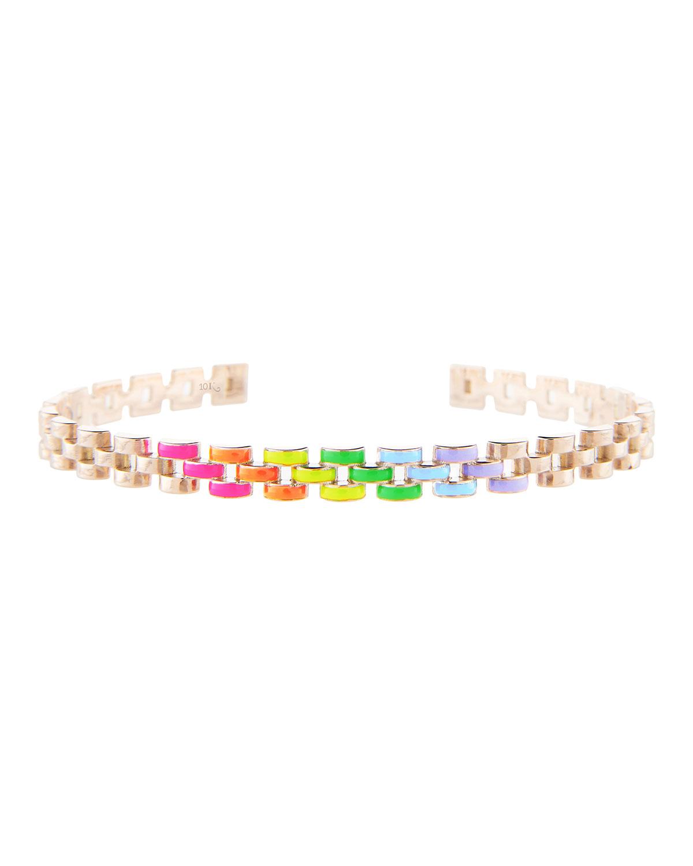 Fine Friendship Skinny Cuff in Neon Rainbow