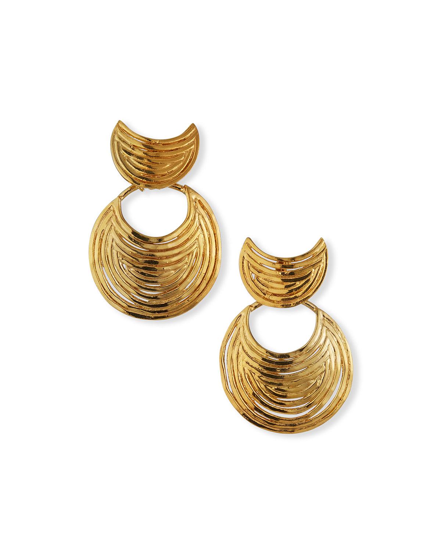 Mini Luna Wave Drop Earrings