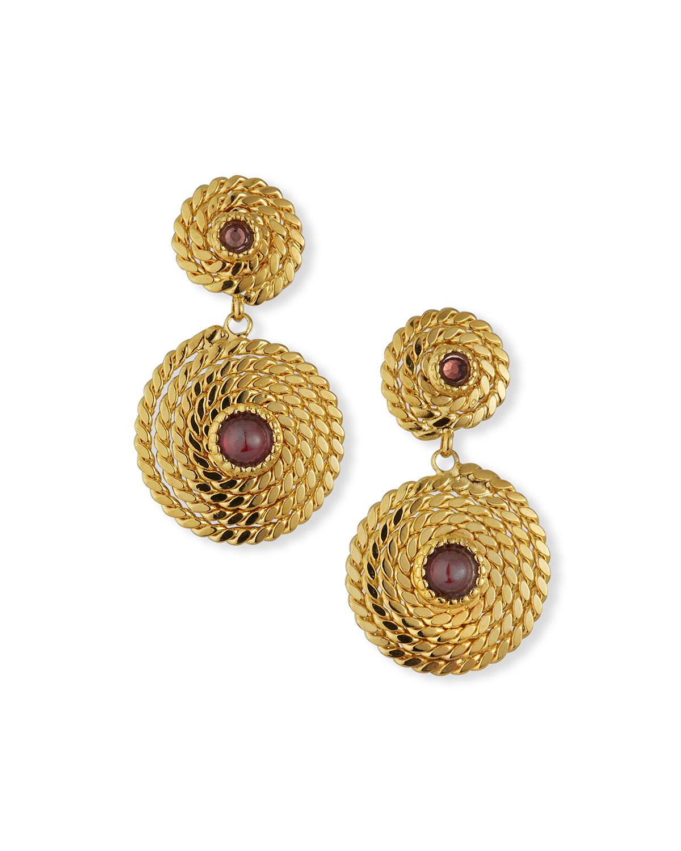 Mini Cabochon Lucky Onde Earrings