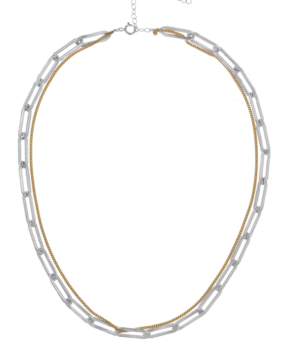 Riley Double-Strand Chain Necklace