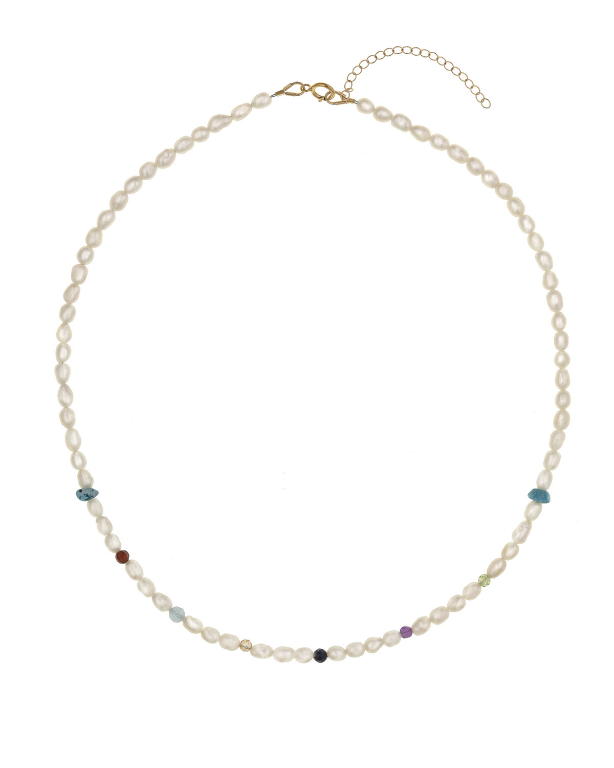 Zulema 6-Stone & Mother-of-Pearl Beaded Necklace
