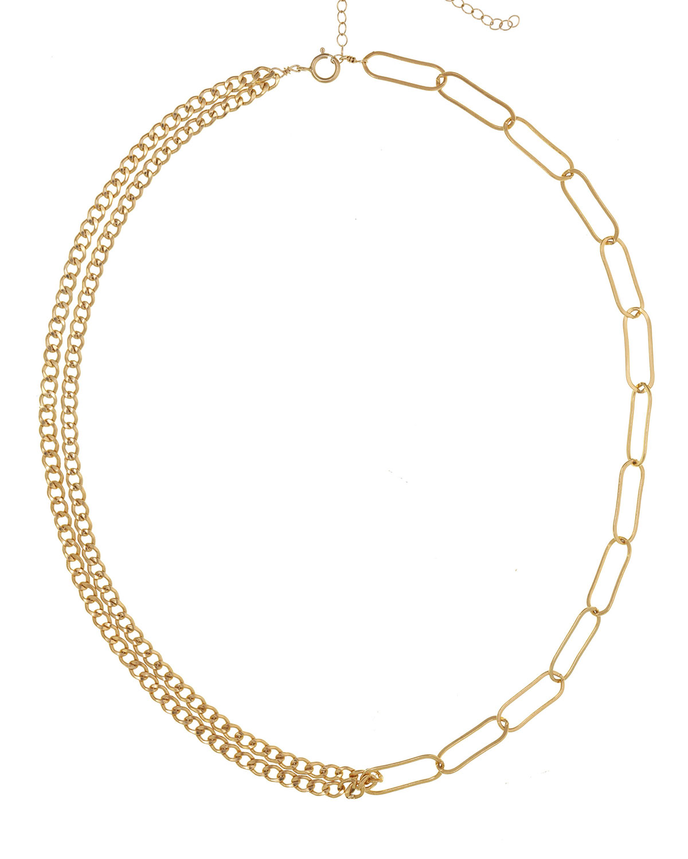 Lilian Interlocking Double-Strand Chain Necklace