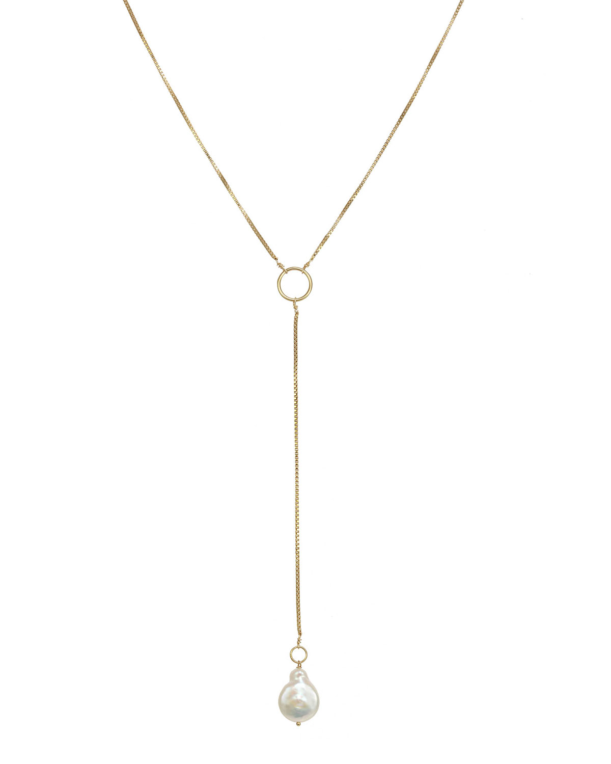 Aaliyah Freshwater Pearl Lariat Necklace