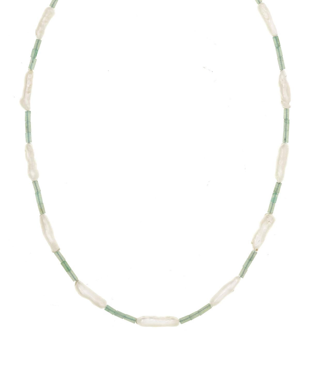 Claire Aventurine and Biwa Pearl Necklace