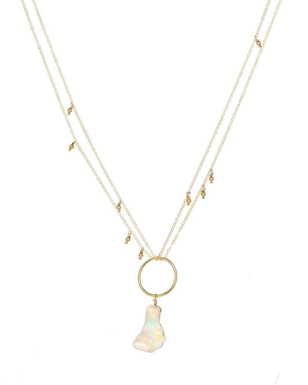 Lenta Ethiopian Opal Pendant Necklace