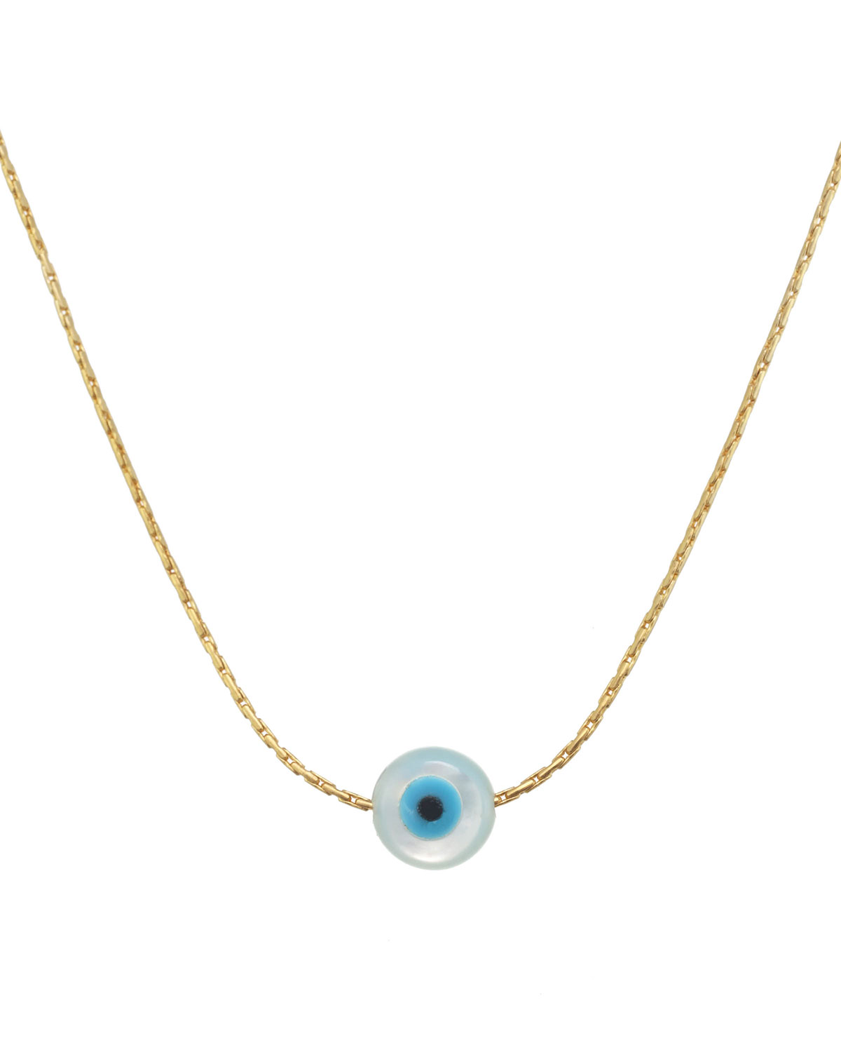Idra Mother-of-Pearl Eye Charm Pendant Necklace