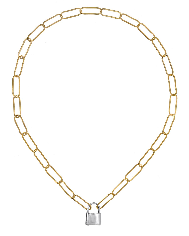 Locklyn Padlock Pendant Chain Necklace