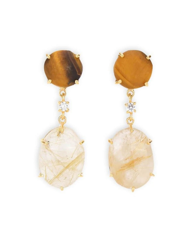 Maxi Moon Drop Earrings