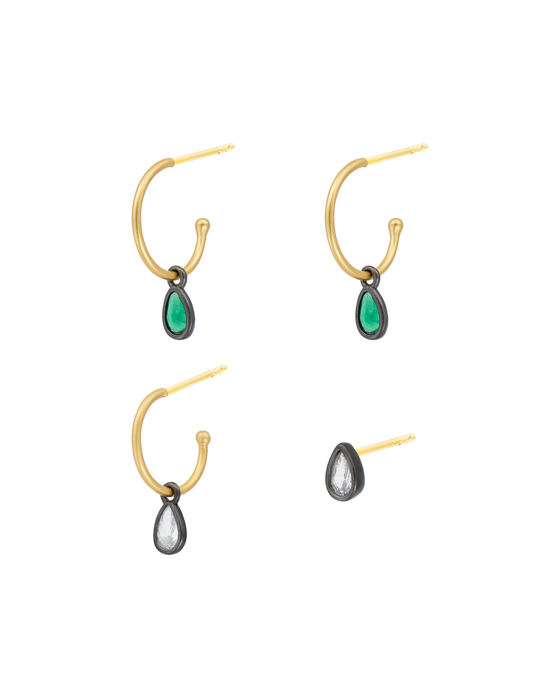 Cubic Zirconia Pear Earrings