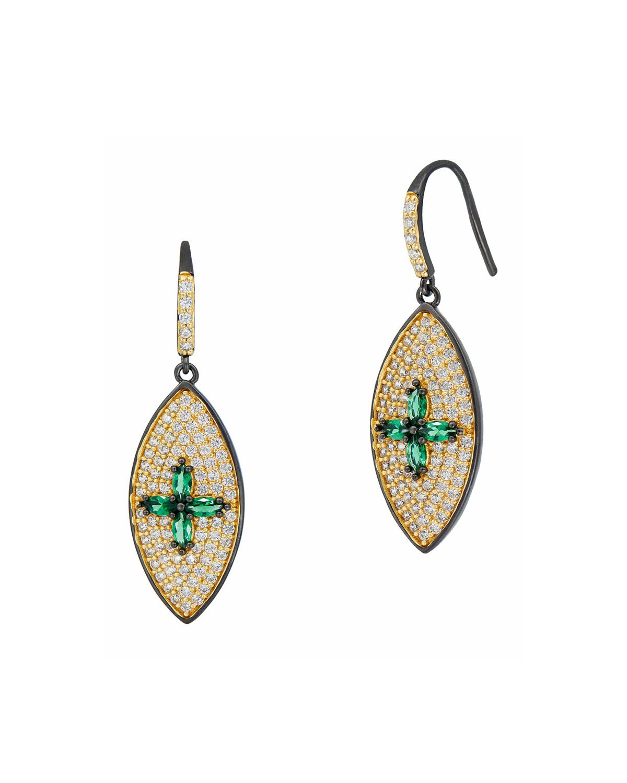 Cubic Zirconia Pave Drop Earrings