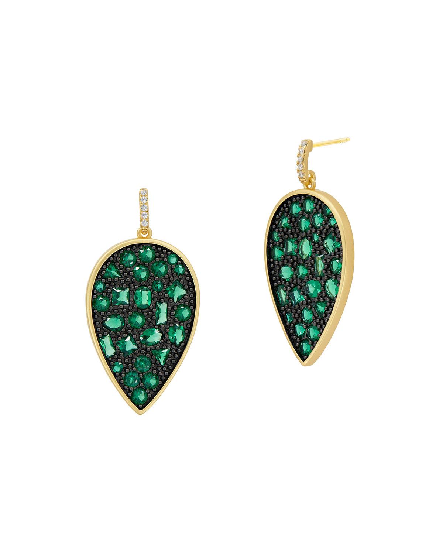 Cubic Zironia Pear-Drop Earrings