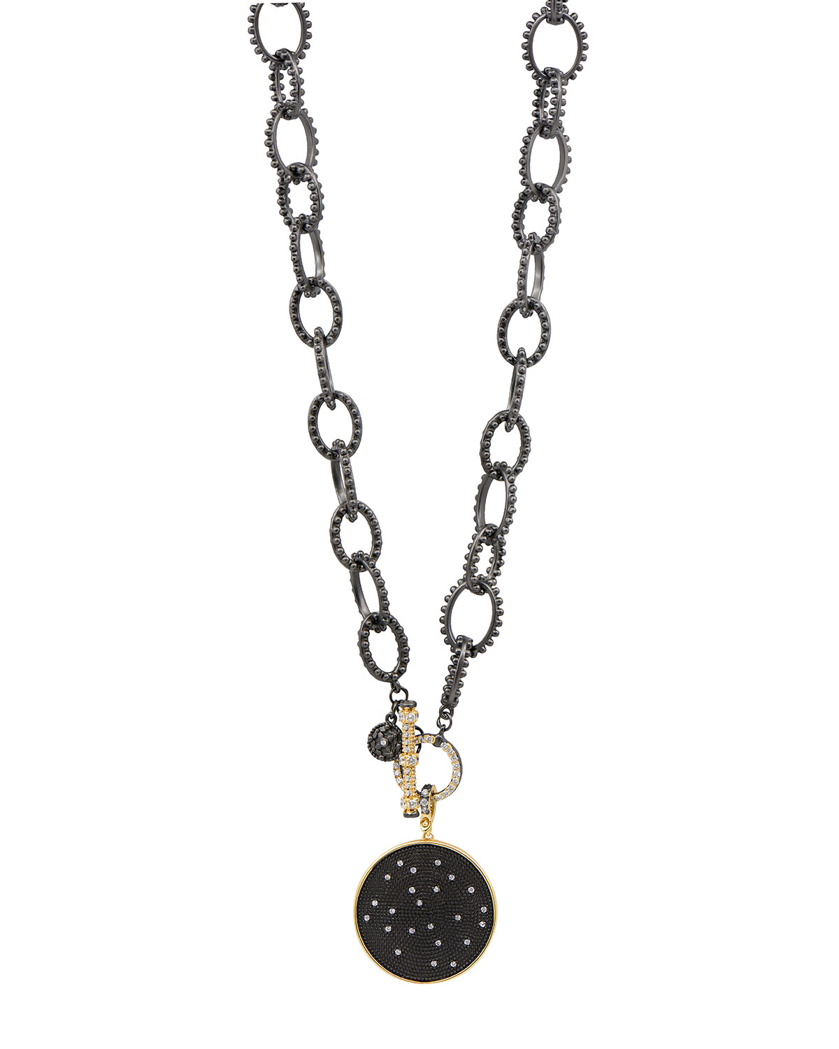 Cubic Zirconia Double-Sided Pendant Necklace