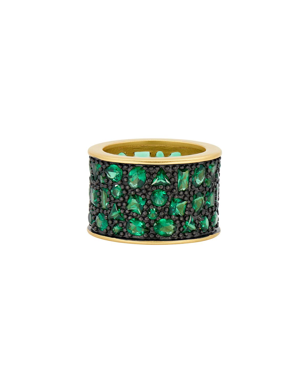 Cubic Zirconia Cigar Band Ring