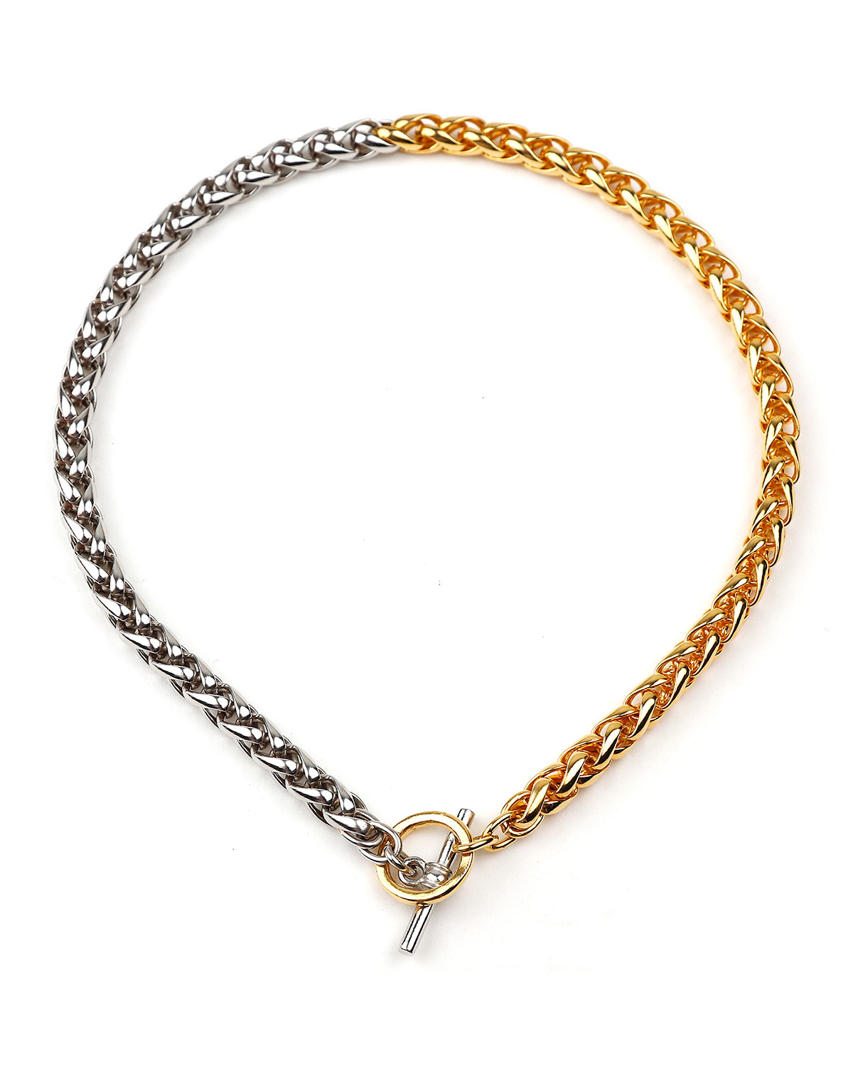 Two-Tone Twist Link Necklace