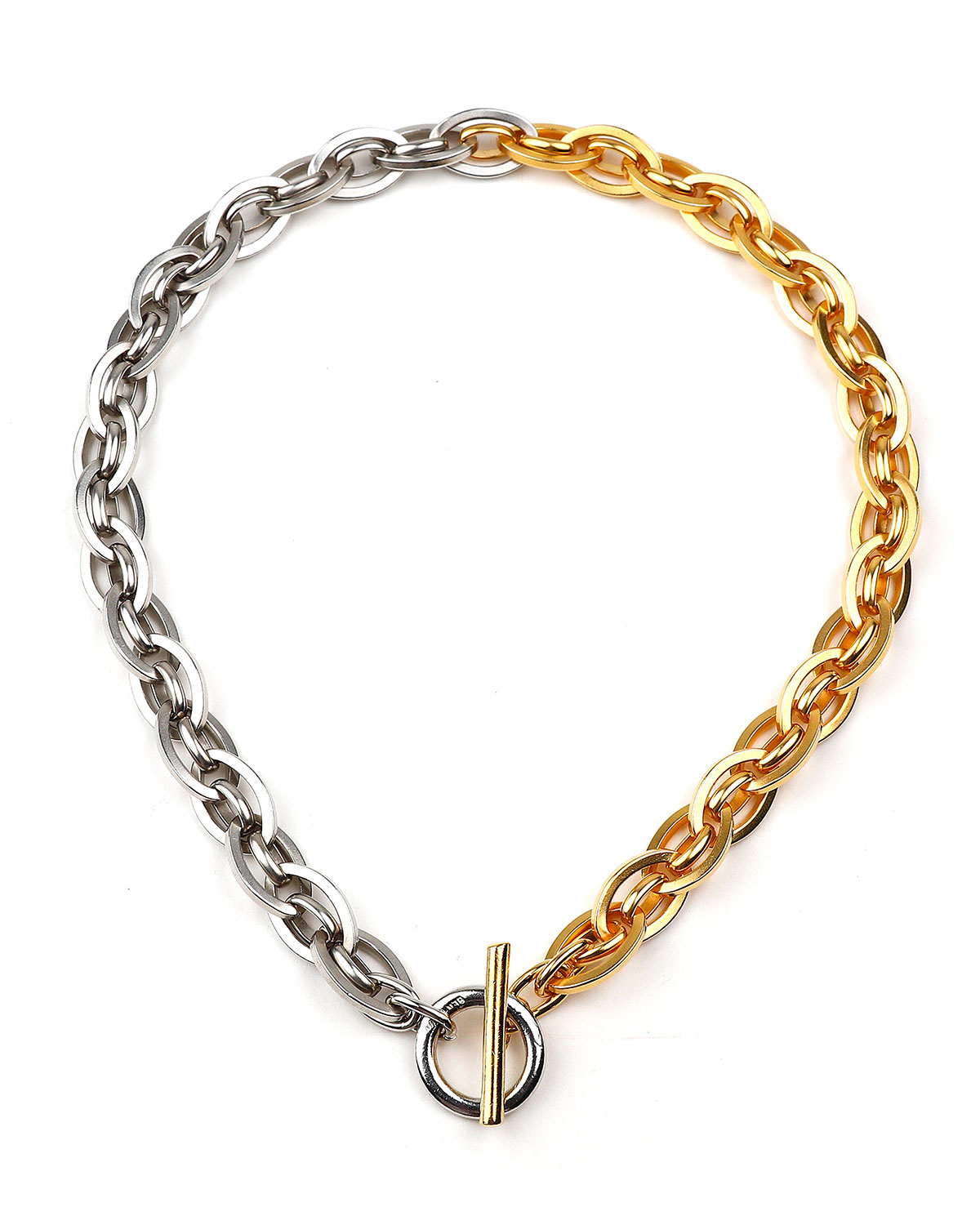Two-Tone Fancy Links Necklace