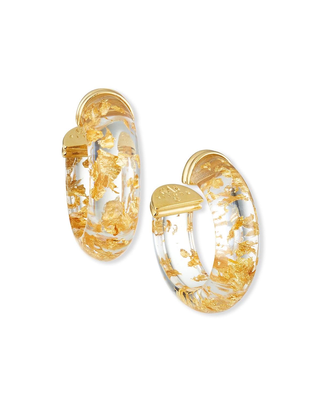 Abalone Hoop Earrings