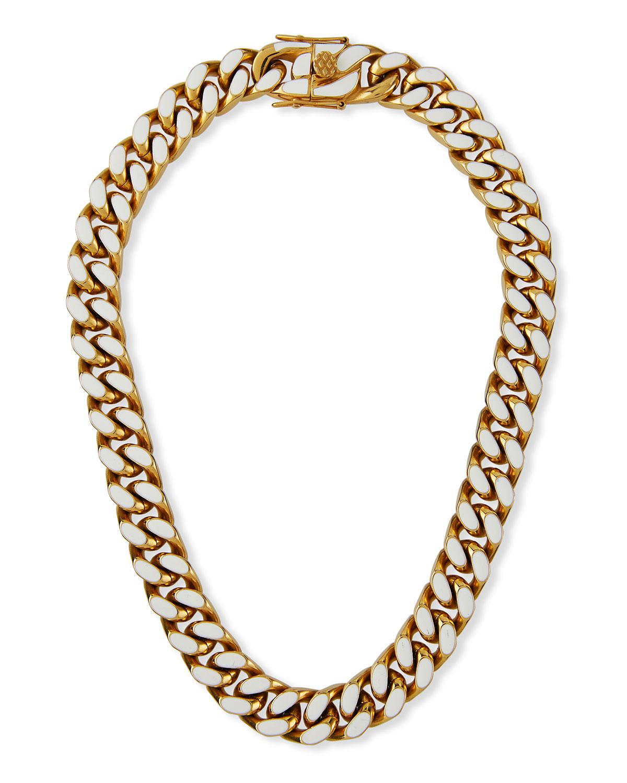 Enamel Curb Chain Necklace