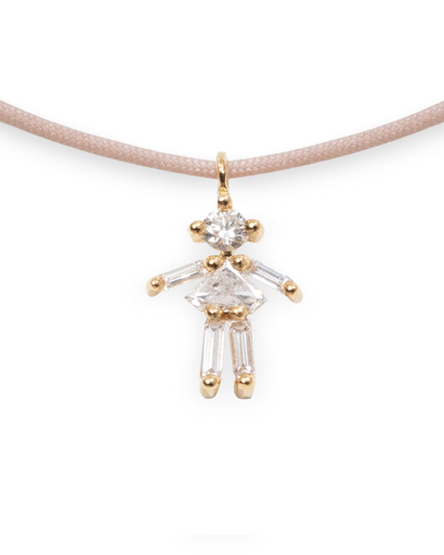 Diamond Girl Thread Necklace