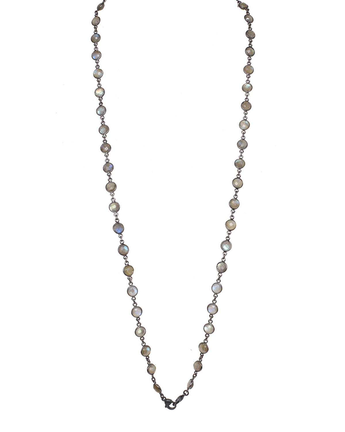 Faceted Labradorite Mask Chain/Necklace