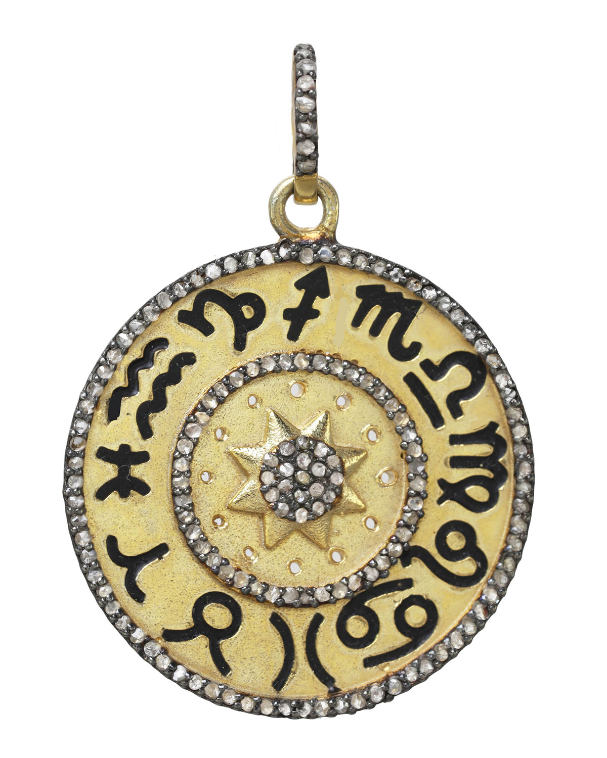 Vermeil and Sterling Silver Astrological Charm