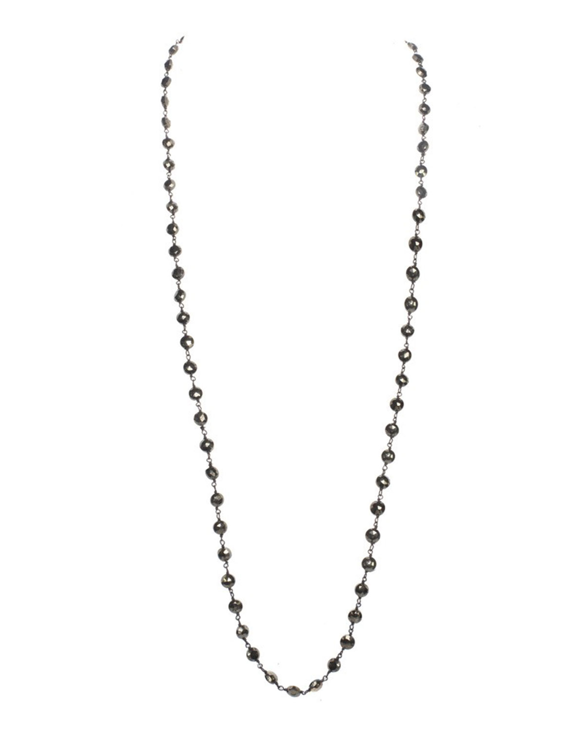 Faceted Pyrite Mask Chain/Necklace