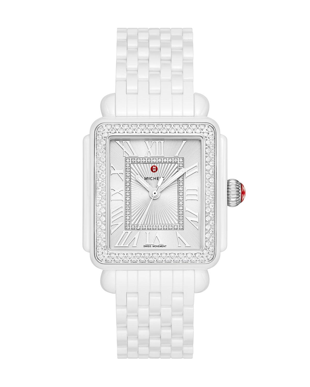Deco Madison Ceramic Diamond Watch