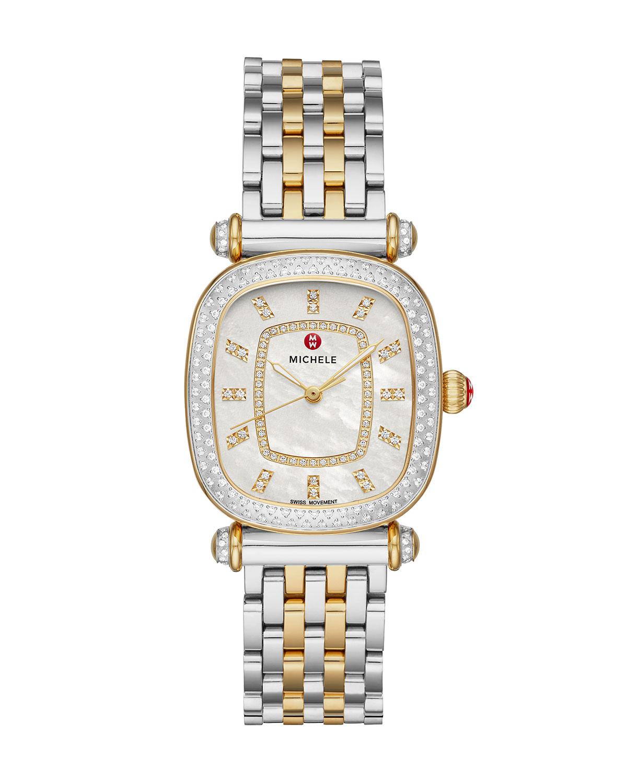 Caber Isle Two-Tone 18k Gold Diamond Watch