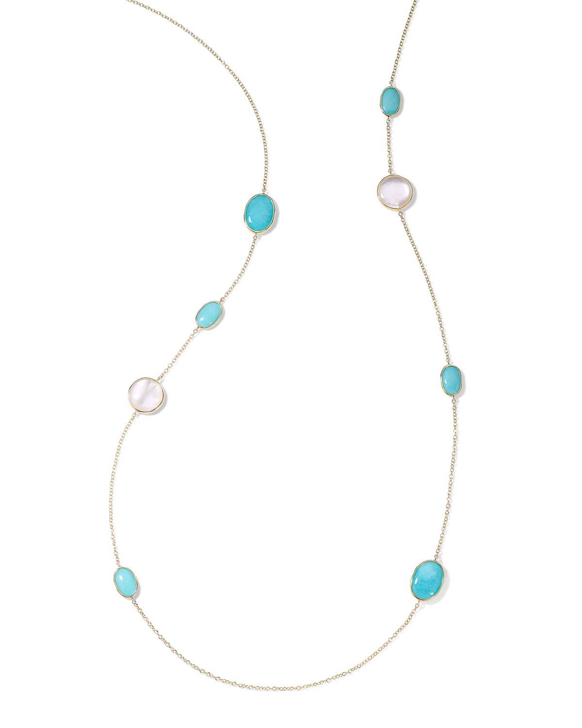 Ippolita 18K ROCK CANDY LUCE MEDIUM STONE LONG CHAIN NECKLACE IN CASCATA