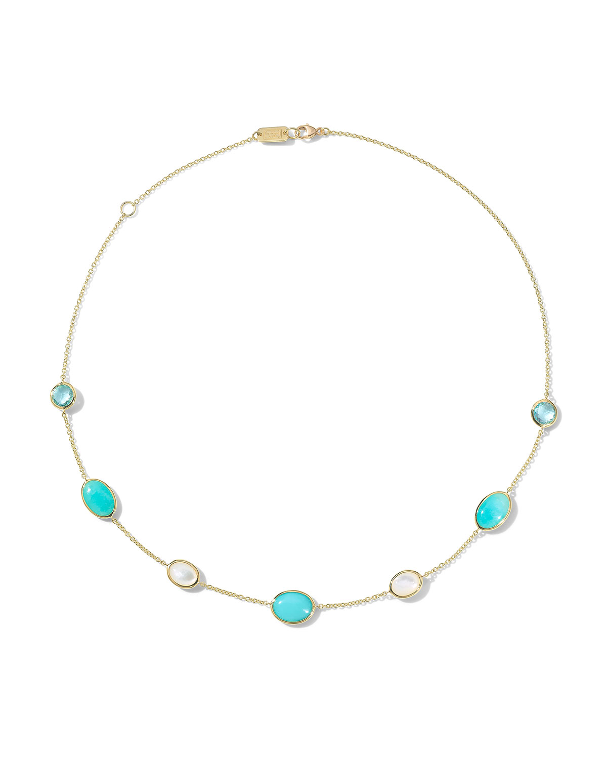 Ippolita 18K ROCK CANDY LUCE SMALLER ALL-STONE LONG NECKLACE IN CASCATA