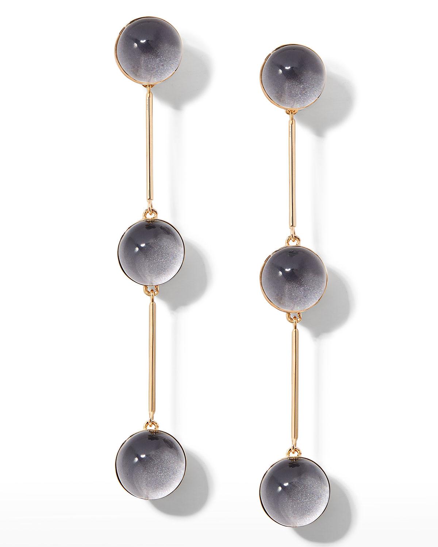Small Triple Ball Drop Earrings