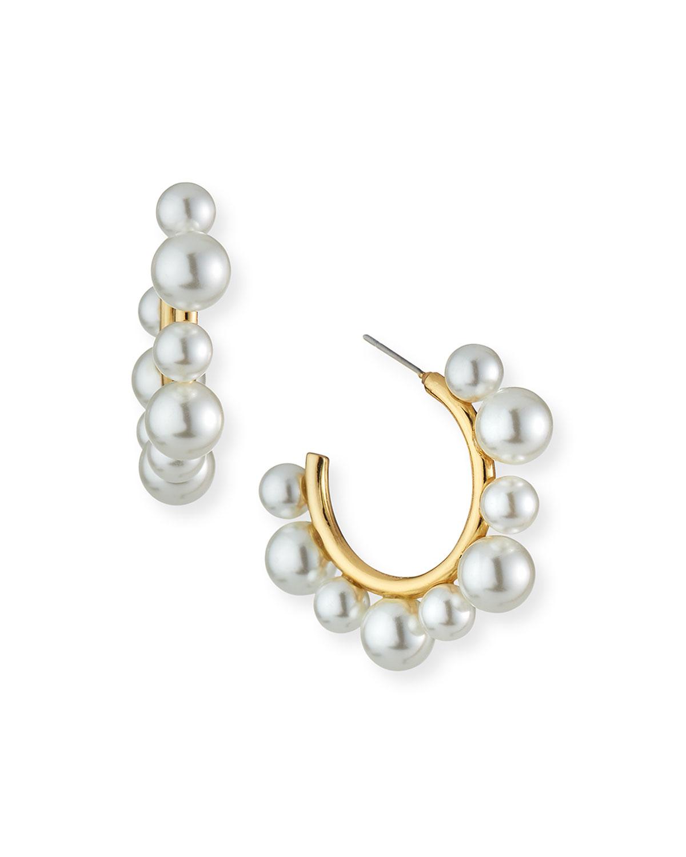 Sara Pearly Hoop Earrings