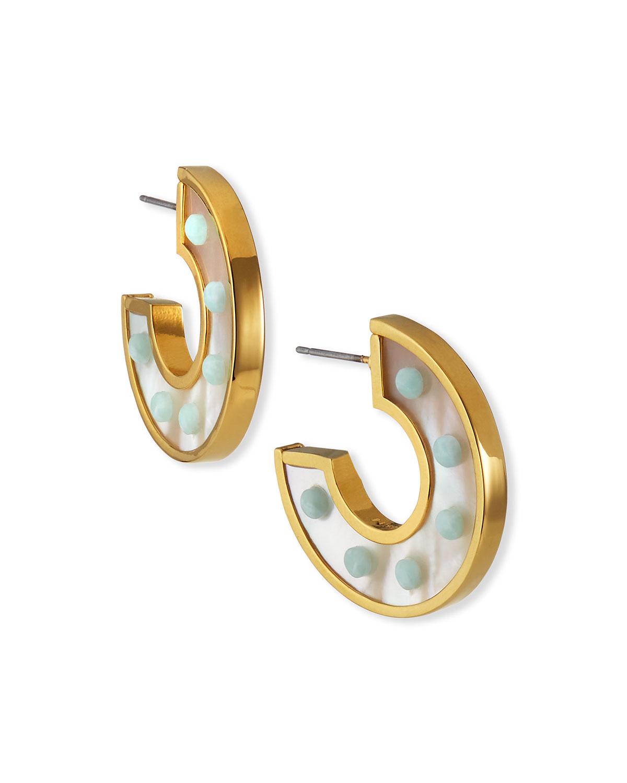 Mother-of-Pearl Mini Fiona Hoop Earrings
