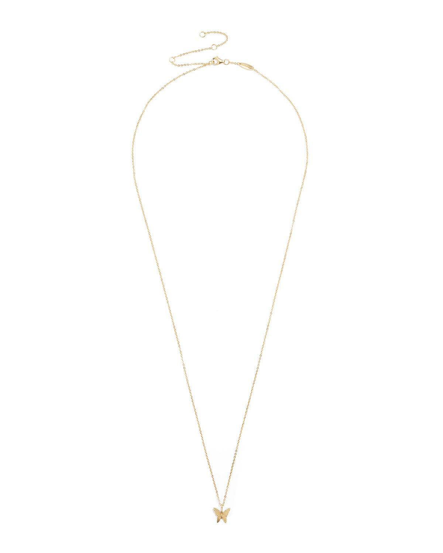 Butterfly Gold Vermeil Pendant Necklace