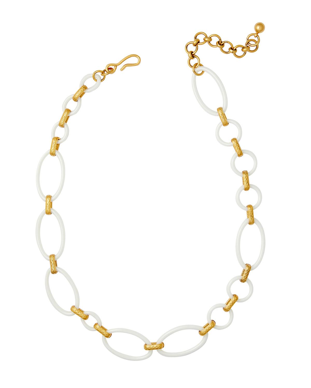 Aces Porcelain Link Necklace