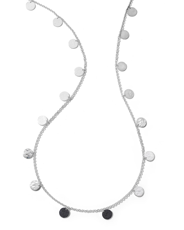 Classico Crinkle Paillette Long Necklace