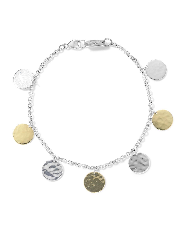 18K Chimera Classico Hammered Paillette Disc Bracelet