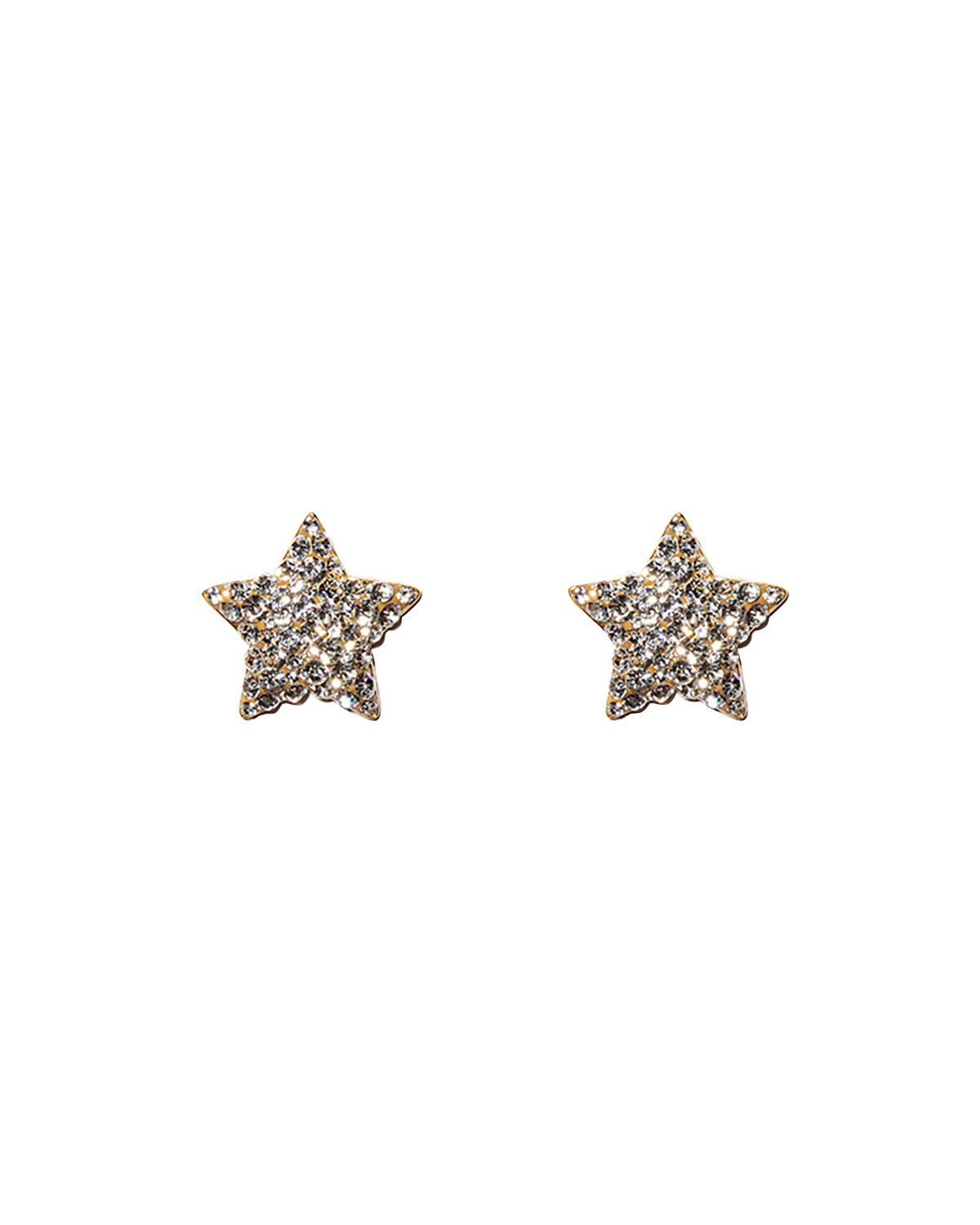 Jeweled Star Button Earrings